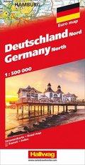 Deutschland Nord Strassenkarte 1:500 000