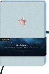 myNOTES Notizbuch A5 Classics Stern hellblau