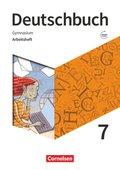Deutschbuch Gymnasium - Zu Allgemeine Ausgabe, Niedersachsen, Nordrhein-Westfalen, Neue Ausgabe: 7. Schuljahr - Arbeitsheft mit Lösungen