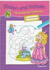 Malen und Rätseln für Kindergartenkinder: Prinzessinnen