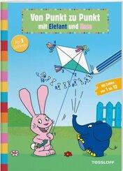 Von Punkt zu Punkt mit Elefant und Hase