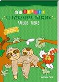 Mein bunter Glitzerzauber Malblock: Wilde Tiere