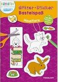 Glitzer-Sticker Bastelspaß: Haustiere
