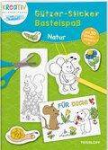Glitzer-Sticker Bastelspaß: Natur