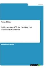 Auftreten der AFD im Landtag von Nordrhein-Westfalen