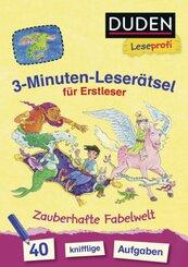3-Minuten-Leserätsel für Erstleser: Zauberhafte Fabelwelt
