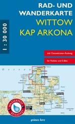 Rad- und Wanderkarte Wittow - Kap Arkona