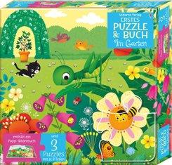 Erstes Puzzle & Buch: Im Garten