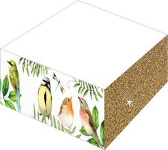 Notizblöcke mit Farb- und Glitterschnitt - Gartenliebe