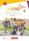 Prima - Los geht's!: Arbeitsbuch mit Audio-CD; 3