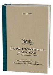 Niekammer' s landwirtschaftliches Adressbuch Westfalen - Lippe-Detmold - Schaumburg-Lippe - Waldeck-Pyrmont