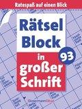 Rätselblock in großer Schrift - .93