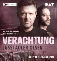 Verachtung. Carl Mørck, Sonderdezernat Q, Fall 4, 1 Audio-CD, MP3