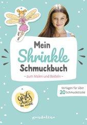 Mein Shrinkle Schmuckbuch zum Malen und Basteln (mint)