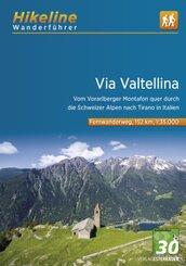 Hikeline Wanderführer Via Valtellina; Band 2