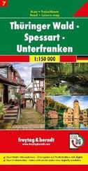 Thüringer Wald - Spessart - Unterfranken, Autokarte 1:150.000, Blatt 7