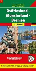 Ostfriesland - Münsterland - Bremen, Autokarte 1:150.000, Blatt 3