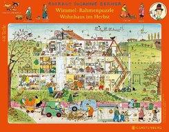 Wimmel-Rahmenpuzzle Wohnhaus im Herbst (Kinderpuzzle)