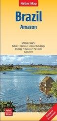 Nelles Map Landkarte Brazil: Amazon