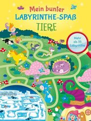 Mein bunter Labyrinthe-Spaß: Tiere