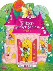 Mein Glitzer-Sticker-Schloss: Feen