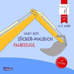 Vicky Bo's Sticker-Malbuch Fahrzeuge
