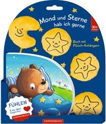 Mond und Sterne hab ich gerne, mit Plüsch-Anhängern