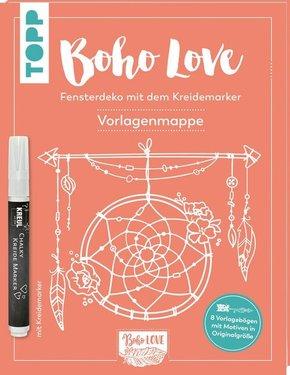 Boho Love. Fensterdeko mit dem Kreidemarker, Vorlagenmappe