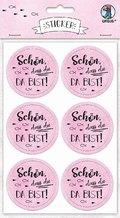 """URSUS 24 Sticker """"Schön, dass du da bist"""", rosa"""