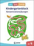 LernSpielZwerge Kindergartenblock - Konzentrationsübungen