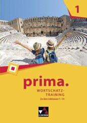 Prima - Latein lernen: prima. Wortschatztraining 1, m. 1 Buch