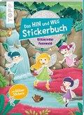 Das Hin-und-weg-Stickerbuch. Glitzernder Feenwald