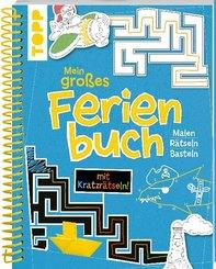 Mein großes Ferienbuch mit Kratzrätseln! (Blau)