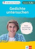10-Minuten-Training Gedichte untersuchen Deutsch 7./8. Klasse