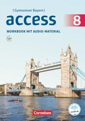 Access, Gymnasium Bayern: 8. Jahrgangsstufe - Workbook mit Audios online