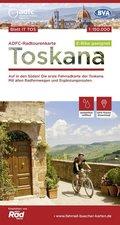 ADFC-Radtourenkarte IT-TOS Toskana, 1:150.000, reiß- und wetterfest, GPS-Tracks Download, E-Bike geeignet