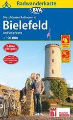 Radwanderkarte BVA Radwandern in Bielefeld und Umgebung