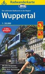 Radwanderkarte BVA Die schönsten Radtouren in der Region Wuppertal