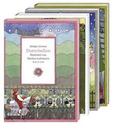 Vier illustrierte Märchenklassiker: Aschenputtel, Dornröschen, Hänsel und Gretel, Schneewittchen, 4 Bde.