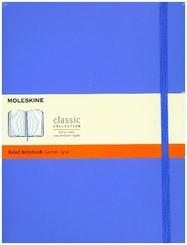 Moleskine Classic, Notizbuch Extra Large Liniert, Hortensien Blau