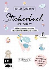 Bullet Journal - Stickerbuch Hello Baby