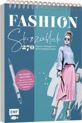 Fashion Skizzenblock - 270 Figuren-Vorlagen für deine Modeentwürfe