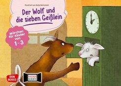 Der Wolf und die sieben Geißlein. Kamishibai Bildkartenset