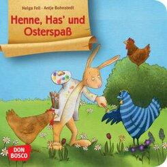 Henne, Has' und Osterspaß. Mini-Bilderbuch.