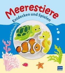 Meerestiere - Entdecken und Spielen (mit 3 Holzfiguren)