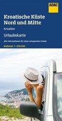 ADAC Urlaubskarte HR Kroatische Küste Nord u. Mitte 1:200 000