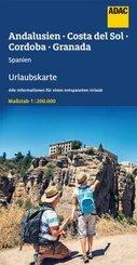 ADAC Urlaubskarte E Andalusien, Costa del Sol 1:200 000