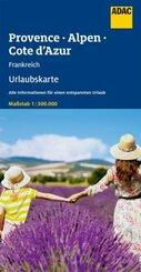 ADAC Urlaubskarte F Provence, Alpen, Cote d'Azur 1:200 000