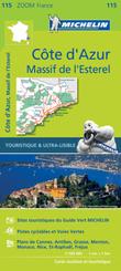 Michelin Karte Côte d'Azur - Esterelmassiv