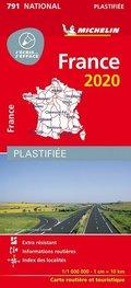 Michelin Frankreich 2020 (plastifiziert)